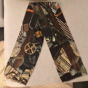 Paul Smith Lightweight Wool Blend Print Scarf